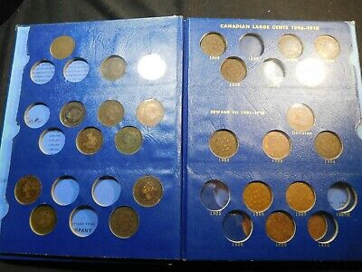 W149 Canada 1858-1920 Large Cent Nearly Complete Whitman Album 29 pcs