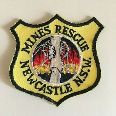 Mines Rescue Newcastle Nsw - Mining Patch Badge - Same As Mining Sticker