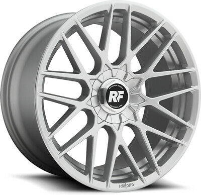"Alloy Wheels 20"" Rotiform RSE Silver For VW Scirocco R 10-17"