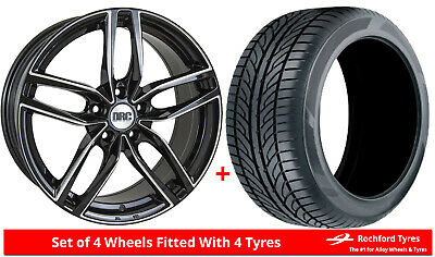 "Alloy Wheels & Tyres 17"" DRC DRS For Volvo S70 96-00"