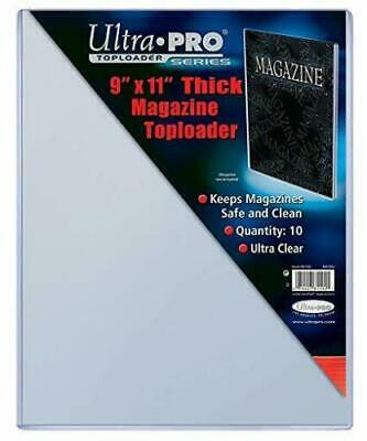 """*NEW* Ultra Pro 9"""" X 11-1/4"""" Thick Magazine Toploader 10 pack"""