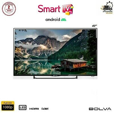"Televisione SMART TV ANDROID BOLVA S-4088 40"" Pollici Full HD GARANZIA 2 ANNI"