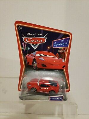 DISNEY PIXAR CARS SUPERCHARGED Red FERRARI F430 Die Cast Toy Car Mattel