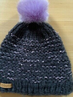 Barts Lucy Earflap Blue Hat Girls Winter Knitted Skiing Holiday XMAS CLEARANCE