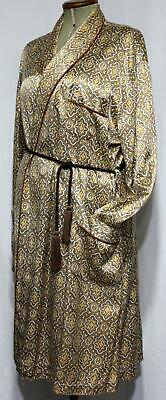 Men's French, Vintage Silky Dressing Gown,  Smoking Jacket