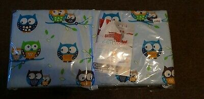 Brand New Owl Bumper for Cot Bed Blue