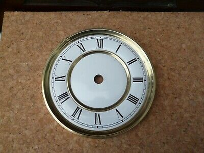 Replacement Clock Dial 12 cm dia - brass finish bezel