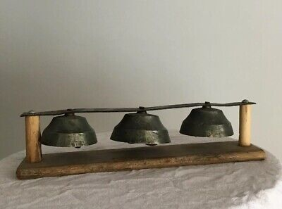 General Store Shop Door Mount Bell Set 3 Vintage Antique Chimes Door Bells
