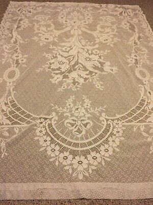 Vintage Style White Floral Lace TableCloth rectangle 60x78 inch Cover