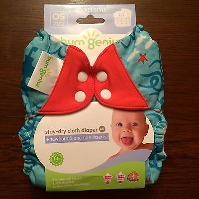 NIP New Bumgenius Bum Genius 4.0 (Pre 5.0 ) Pocket Diaper Jules Print
