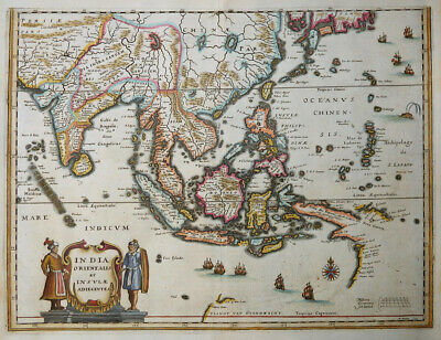Asien Indien India Orientalis Et Insulae Korea Japan Philippinen Wall 1638