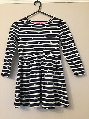 Joules Girls Long Sleeve Dress Size 5 Years