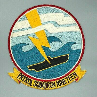 1950s US Navy Patrol Squadron 19 Patch Japanese Made 908V