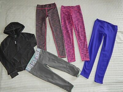 REEBOK/IVIVVA/Zella/90 Degree ― Girls 10/12 ― Lot of 5 Leggings/Athletic Hoodie