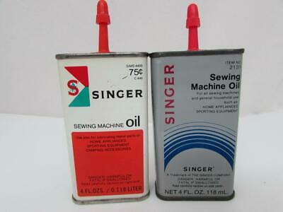 Vintage Singer Sewing Machine Oil Cans