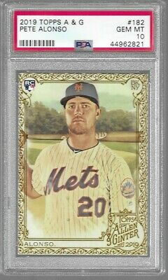 Psa 10 Pete Alonso 2019 Topps Allen Ginter Gold Hot Box #182 Mets Rookie Rc Sp