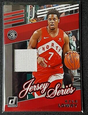 2019-20 Panini Donruss Basketball Kyle Lowry Jersey Series Game Worn Raptors