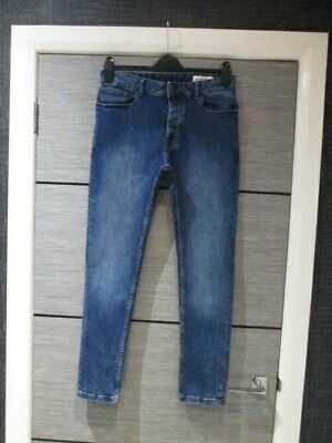 Mens Denim Co Blue Skinny Leg Jeans W32  X L29 Vgc