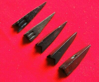 4 Ancient Bronze Arrows in excellent condition