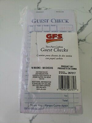 Lot of 10 Guest Checks BRAND NEW