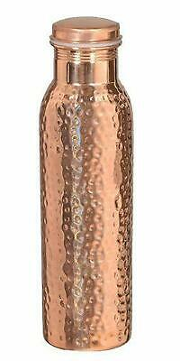 Hammered Pure Copper Water Bottle 950ml (32oz) Flask (Free Shipping)