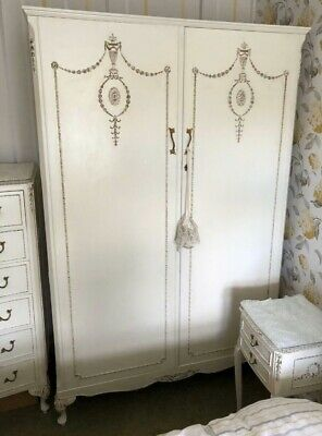 VINTAGE DOUBLE FRENCH LOUIS OLYMPUS WARDROBE WITH FITTED SHELVES 2 Available