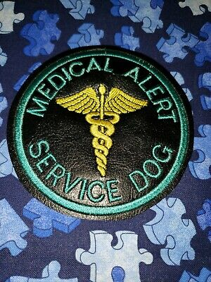 Teal and Black medical Alert Service Dog Patch, Patches for Vests / Harness