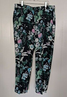 NWT Banana Republic Womens Avery Ankle Pants Size 8 Crop Capri Floral New