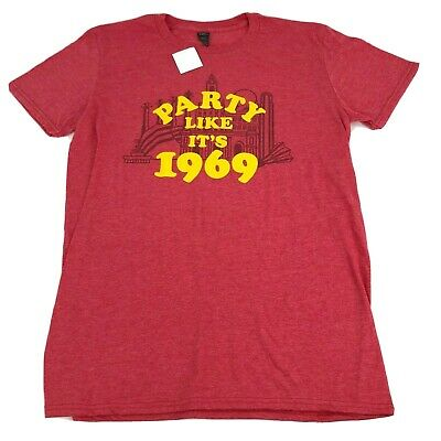 Kansas City Chiefs Shirt Party Like It's 1969 Superbowl KC Scenes Red Heather M