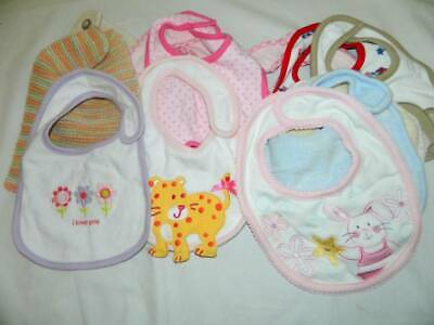 Lot 12 Baby Toddler Bibs Feeding Drooling All Clean