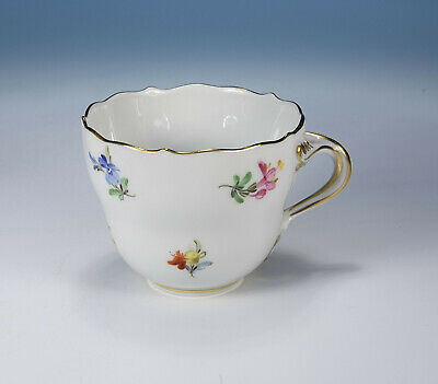"""Meissen """" Scattered Flowers """" Moccha Cup without Saucer 1.Wahl"""