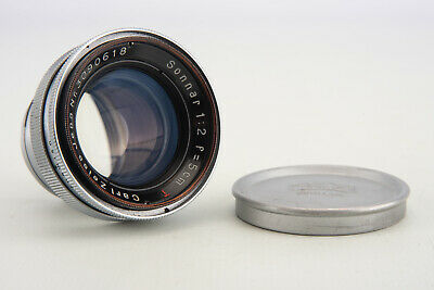 Carl Zeiss Jena Sonnar 5cm f/2 Rangefinder Lens with Cap for Contax RF Mount V06