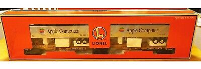 VERY RARE Lionel Train Flatcars with 2 Apple Computer Logo Trailers