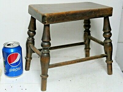 Wonderful Early Miniature Carved Wooden Stool - Extremely Rare Example - L@@K