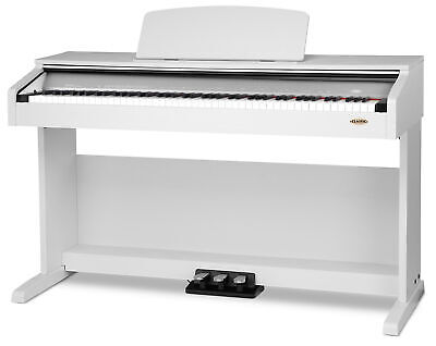 88 Tasten Digital E-Piano Klavier Keyboard 3-Pedale 26-Sounds USB Weiss Matt
