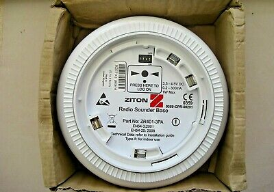 £132 Ziton ZR401-3PA Wireless Radio Sounder Base