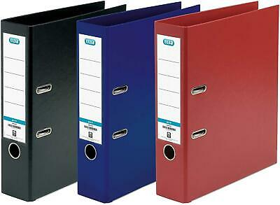Lever Arch File A4 Plastic on Board File Assorted Pack of 3