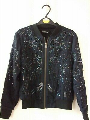 Next Girls Black Sequin And Beads Jacket Age 9 Years
