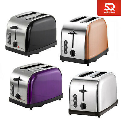 SQ Pro Legacy 900W Toaster with Reheat Defrost Cancel Functions 2 Slice Toaster
