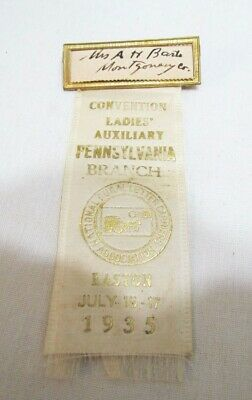 U.s. Mail 1935 Metal Badge W/ Ribbon Rural Letter Carriers Association Easton Pa