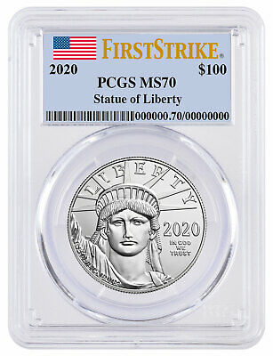 2020 1 oz Platinum American Eagle $100 Coin PCGS MS70 FS Flag Label SKU60554