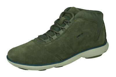 Geox U Wells A Pull Up Mens Trainers Shoes Navy