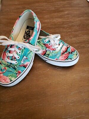 Vans Pink Turquoise Flamingo Shoes Men 8 women 9.5