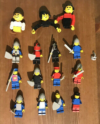 Vintage Lego Mini Figures and Accessories Including Accessories Knights