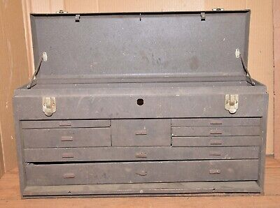Kennedy 8 drawer machinist tool box No 526 collectible machine jewelery chest