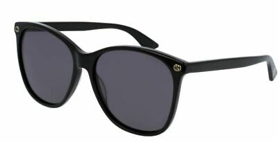Authentic Gucci GG 0024 S 001 Black Sunglasses