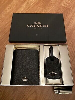 Coach Glitter Travel Set Passport Holder And Luggage Tag