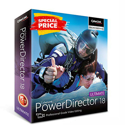 CyberLink PowerDirector Ultimate 18🔥Genuine Lifetime License {FASTDELIVERY}🔥🔥