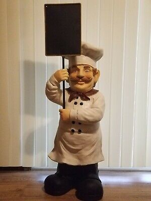 "33"" Bistro Style Chef With Chalkboard Statue LOCAL PICKUP!!! (Eugene, Oregon)"