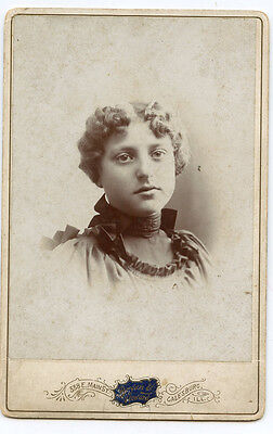 Cabinet Photo - Galesburg Illinois - MOON Family Lady (Blanche)